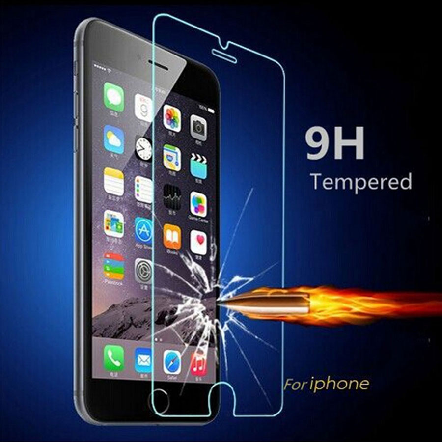 For iPhone 5S SE Tempered Glass Screen Protector For Apple iPhone 5 5S 5C 5G SE Protective Guard Film Explosion-proof Screen Bag