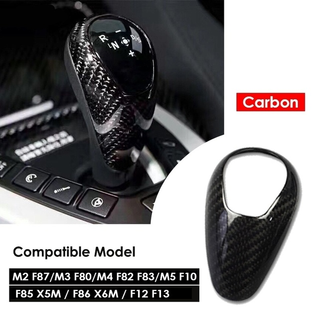 Airspeed Carbon Fiber Gear Knob Cover for BMW M2 F87 M3 F80 M4 F82 F83 M5 F10 F85 X5M F86 X6M F12 F13 Accessories Car Styling