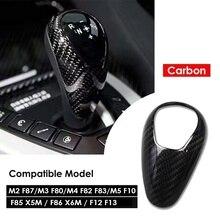 Velocidade do ar de fibra carbono botão da engrenagem capa para bmw m2 f87 m3 f80 m4 f82 f83 m5 f10 f85 x5m f86 x6m f12 f13 acessórios estilo do carro
