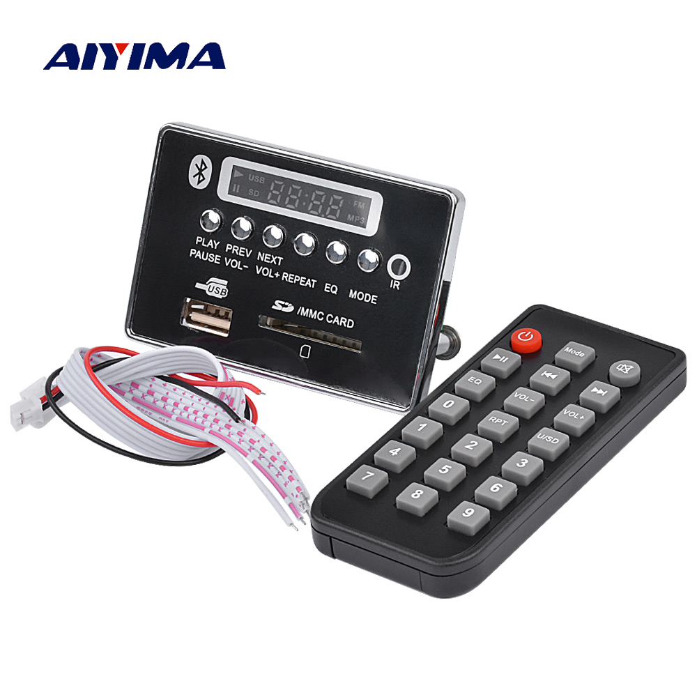 DC 12V Bluetooth 4.0 MP3 Decoder Board Audio Module USB//SD WAV WMA FM Remote