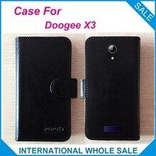 Hot! 2016X3 Cas Doogee Téléphone 6 Couleurs de Haute Qualité En Cuir Exclusive Cas Pour Doogee X3 De Protection Couverture de Téléphone de Suivi