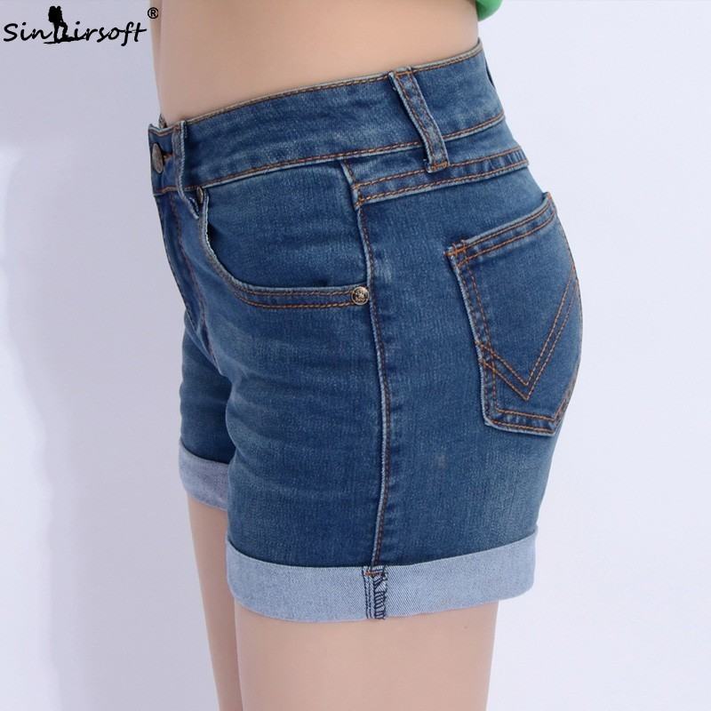 High Waist Denim Shorts Plus Size 40 Female Short Jeans For Women 2019 Summer Europe Style New Fashion Casual Femme Hot Shorts in Shorts from Women 39 s Clothing