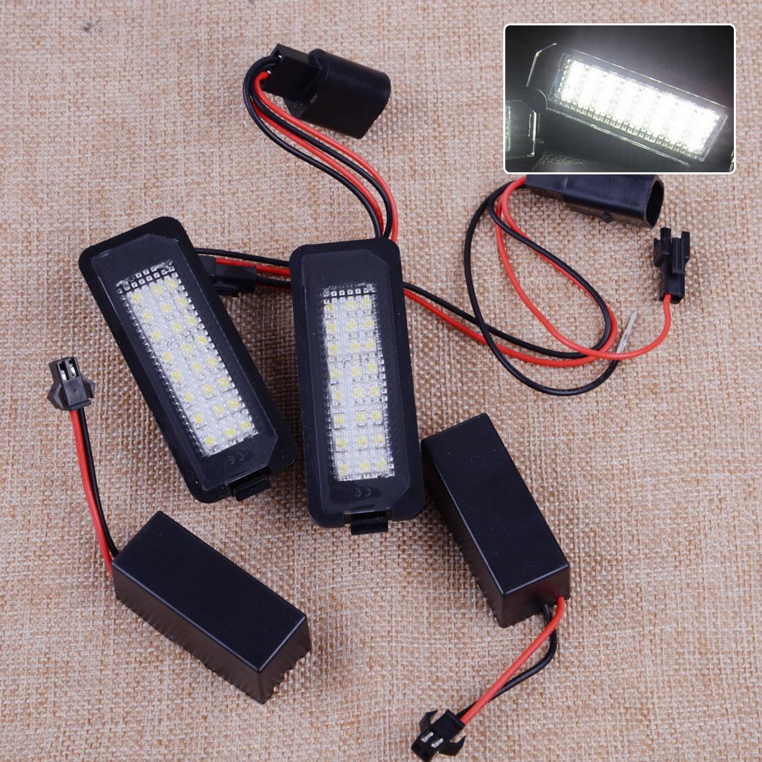 CITALL 2 pcs En Plastique LED Plaque D'immatriculation de La Lampe 99763162000 Fit Pour Porsche Carrera Boxster Cayman Cayenne 987 997 958
