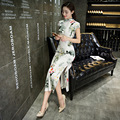New Arrival Chinese Style Lady Qipao Traditional Cheongsam Vintage Flowers Dress S-XXL
