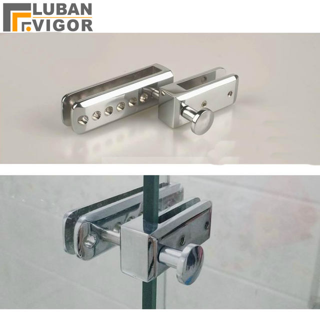 Frameless Shower Room Sliding Door Lock Bolt Doorstop For Glass Thick 8 10mm Or Screen Partition Gap 25mm Hardware