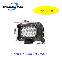 New 54W 5D high-brightness LED car work light spotlights for off-road vehicle ATV motorcycle boat 6000K 2pcs better ahead(China)