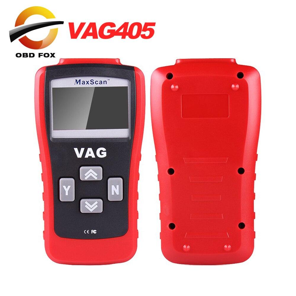 Prix pour Vag405 pour VW/AUD1 Outil D'analyse MAXScan VAG 405 Lecteur de Code MaxScan Auto Scanner PEUT Livraison gratuite