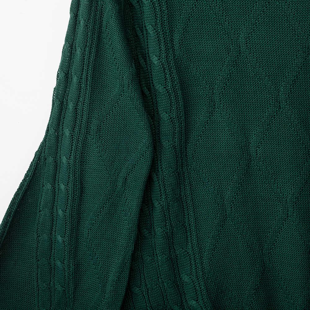Forefair Winter Rollkragen Gestrickte Pullover Frauen Herbst 2019 Laterne Hülse Plus Größe Jumper Feste Beiläufige Oversize Pullover