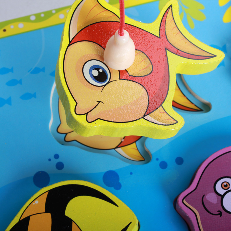 Toys & Hobbies Rrandom Wooden Fishing Educational Toys For Children Biology Ocean Animals Magnets Puzzles Board Funny Teaching Aids Kids Toy