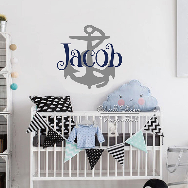 Cartoon Anchor Name Wall Sticker Cartoon Name Wall Art Decal Children Name Baby Nursery Wall Art  sc 1 st  AliExpress.com & Cartoon Anchor Name Wall Sticker Cartoon Name Wall Art Decal ...