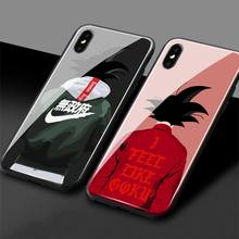 Dragon Ball Z Super DBZ Goku DBS Fashion Tempered Glass TPU Phone Case Cover shell For iPhone 5 5s Se 6 6s 7 8 Plus X XR XS MAX(China)