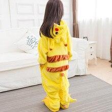 14cf287896571b Kid Anime Pikachu Pokemon Cosplay kombinezon piżama dzieci zwierząt Kigurumi  Onesie Panda Cartoon Party kostium zima