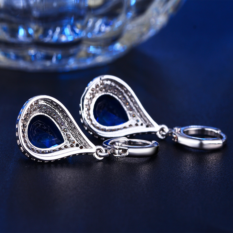 Cercei de bijuterii DODO Femeie Albastru strălucitor Cristal Vintage - Bijuterii de moda - Fotografie 3