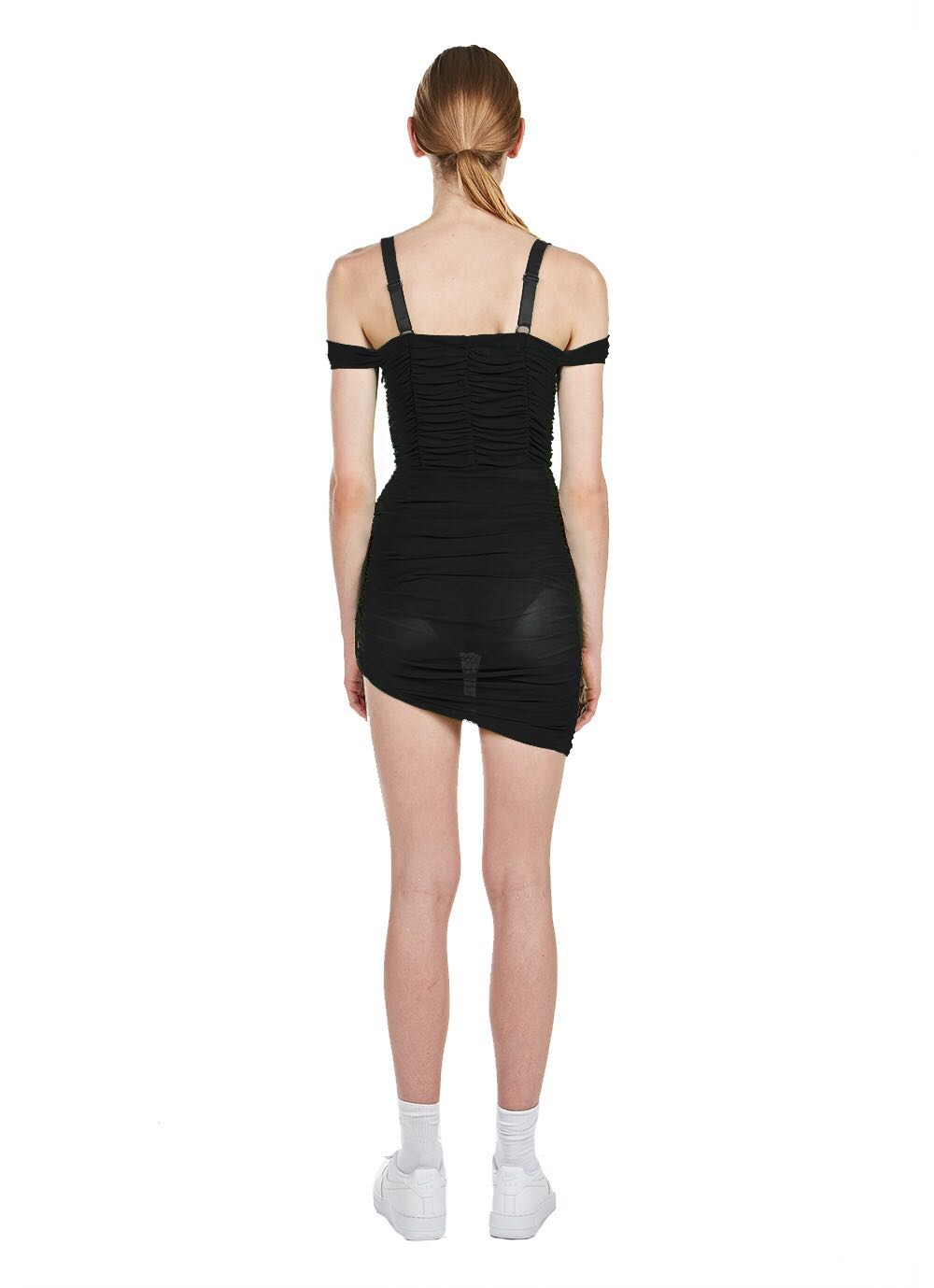 Femmes Gros En Mode Bandage Courroie Celebrity Mesh Robes Sexy Gaine Pub through Corps Robe See Nouveau Noir Bretelles Con Style De l1cFKJ
