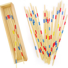 30Pcs Traditionele Mikado Spiel Pick Up Sticks Met Doos Game Spillikin Game Multiplayer Game Baby Educatief Houten spel(China)