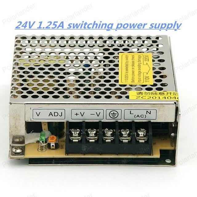 Бесплатный shiiping, AC 110/220 В 30 Вт 24 В 1.25A Импульсный Источник Питания Драйвер для LED Striplight