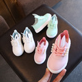2018 весенне-Осенняя детская обувь; дышащие кроссовки для девочек; обувь принцессы с кроликом; мягкая детская спортивная обувь