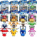 Mini Super Wings Toys 8pcs/lot  Action Figures Super Wing Deformation Planes Transformation Toys Kids Car