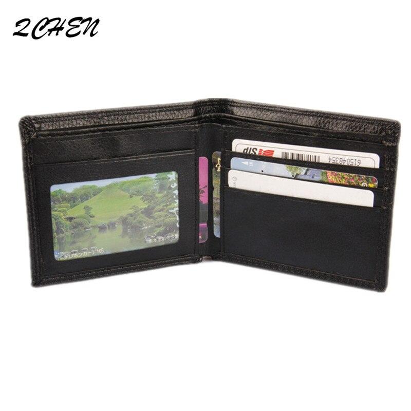 2019 New High End Pu Wallet Men's Fashion Empty Board Leisure Wallet No Logo Wallet Men's Pure Color Wallet Trend 026