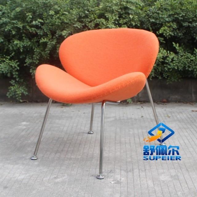 SUPEIER Pierre Paulin Orange Slice Chair Living Room Designer Furniture  Leisure Armchair Creative Fashion