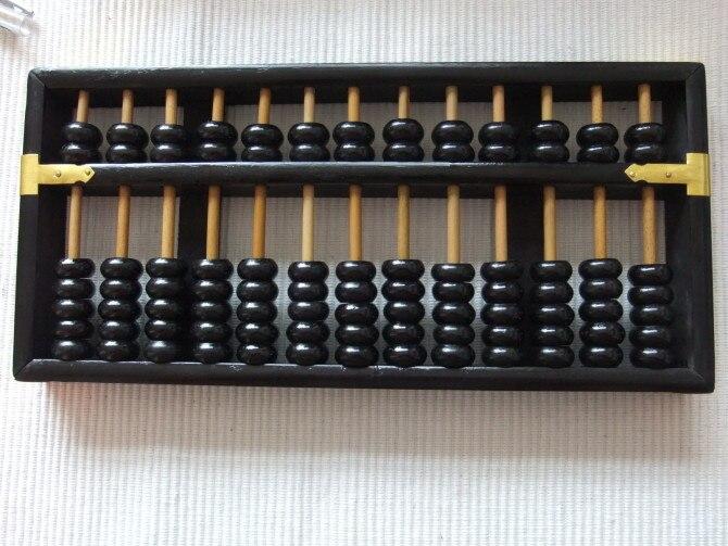 Noir vintage Grand Boulier Chinois soroban 13 colonne No 4 pour comptable banque outil mathématique l'éducation xmf066 livraison gratuite - 6