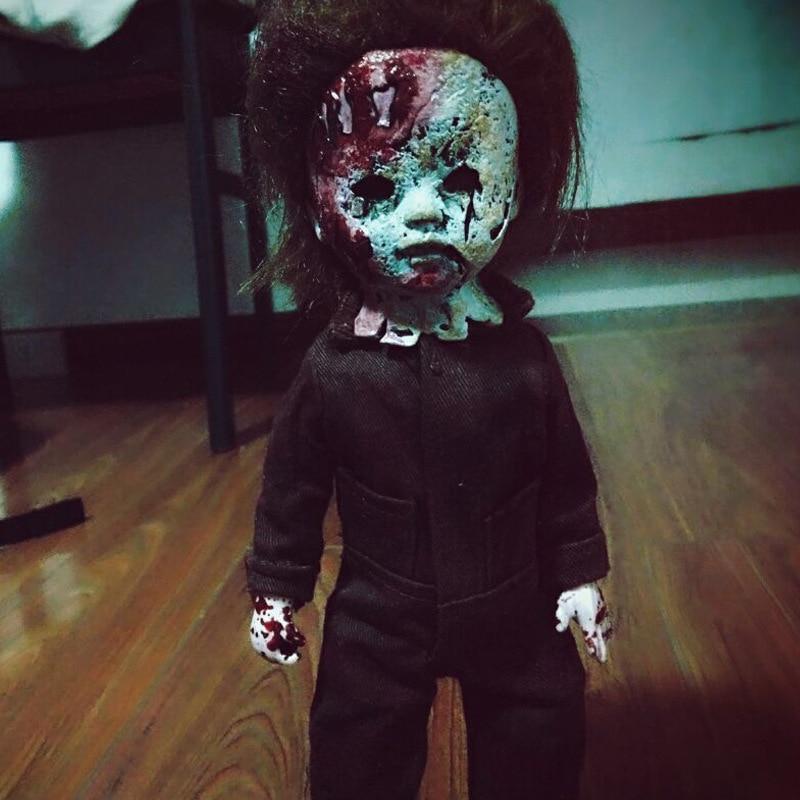 все цены на Living Dead Dolls Halloween 2 Killer Michael Myers Kid Version hellraiser Classic Rob Zombie Horror Film Mezco 11