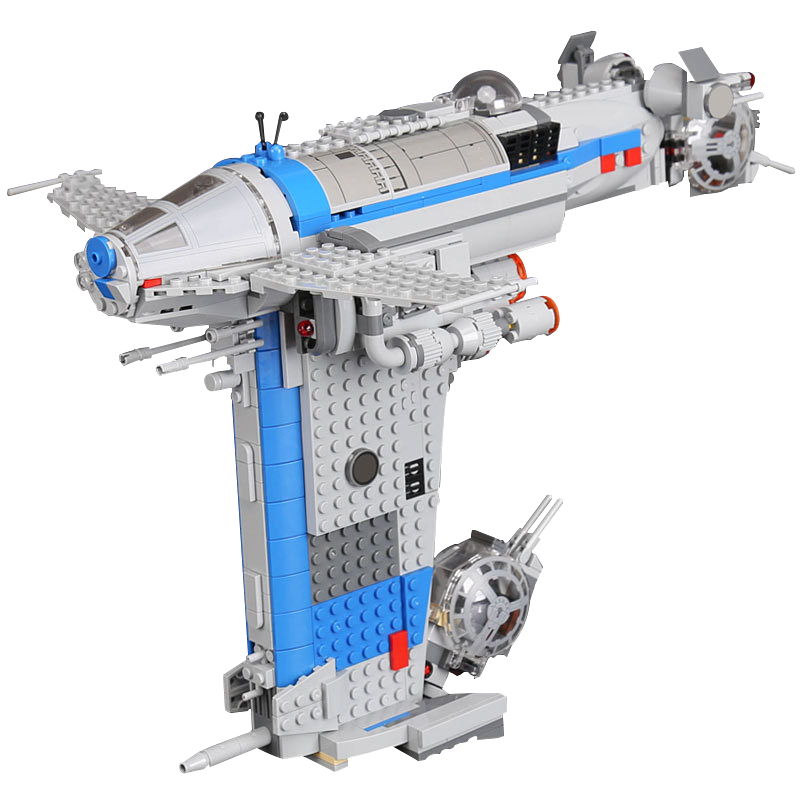 Lepin 05129 The Rebel Bomber Set 873Pcs Star Wars Series Educational Building Blocks Brick Toys For Children Gift Legoings 75188 building blocks super heroes back to the future doc brown and marty mcfly with skateboard wolverine toys for children gift kf197
