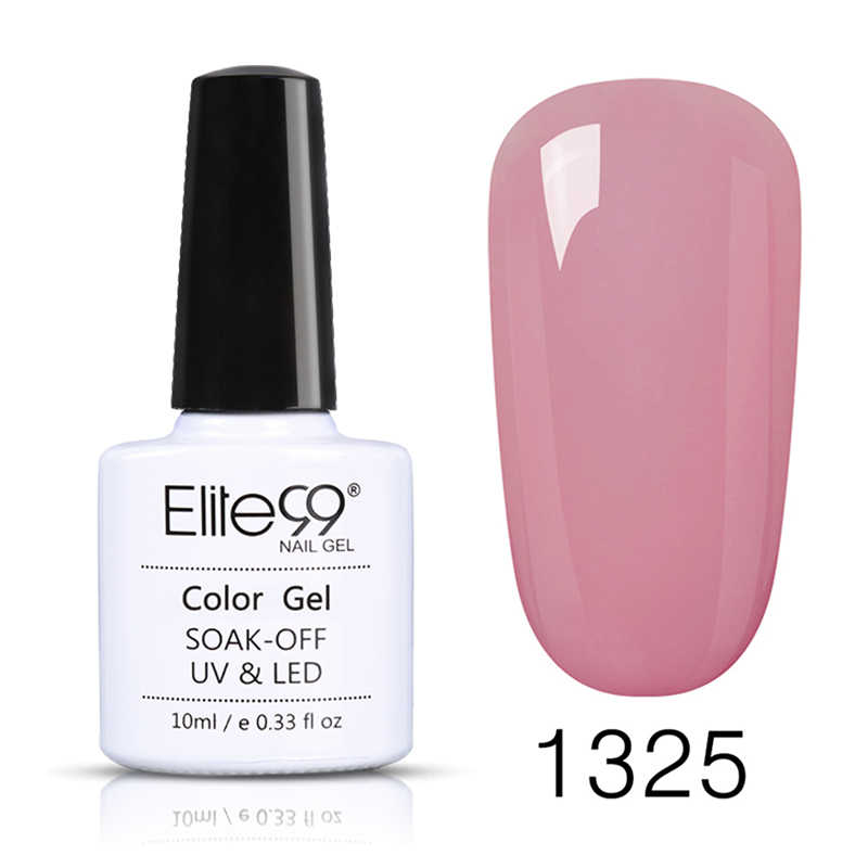 Elite99 เจลสีขาวเล็บ Primer GEL Varnish Soak Off UV LED เจลเล็บฐาน NO Wipe TOP เจลสีโปแลนด์