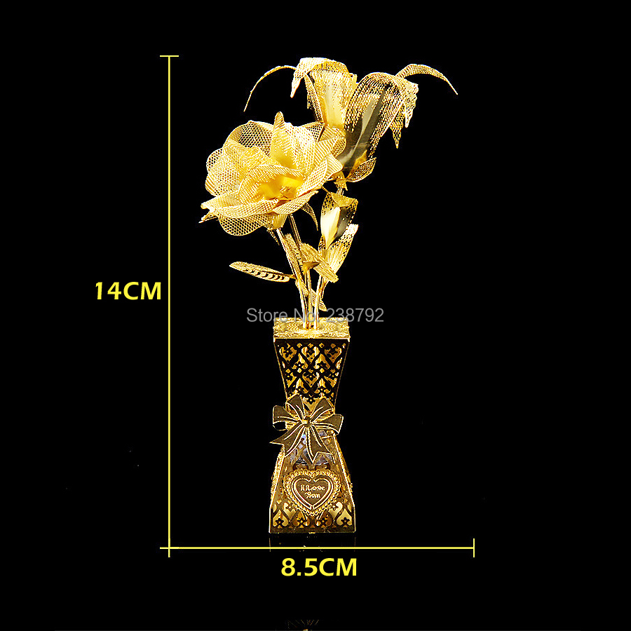 3d Metal Puzzle Jigsaw Diy Rose Flower Model Laser Cutting Toys For Adults Educational Childrens Toys Be Novel In Design Toys & Hobbies