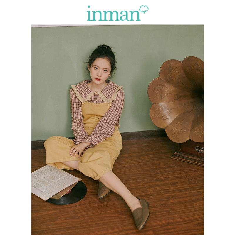 INMAN 2019 Autumn New Arrival Young Literary Minimalism All Matched Solid Women Loose Braces Long Pants-in Pants & Capris from Women's Clothing    1