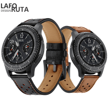 Laforuta 22mm Leather Watch Band For Samsung Gear S3 Frontier Bnad Gear S3 Classic Strap Bracelet Galaxy 46mm Wristband faux leather bnad number watch