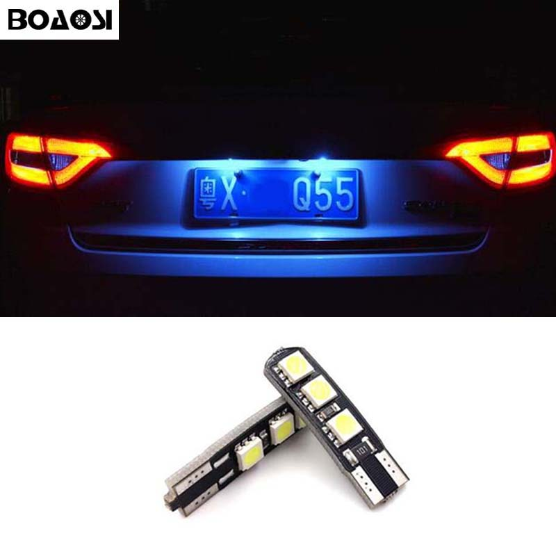 BOAOSI 2x <font><b>Canbus</b></font> Error Free T10 W5W Car <font><b>LED</b></font> Number Plate Lights Bulbs For mazda 3 Axela 6 cx-5 ATENZ