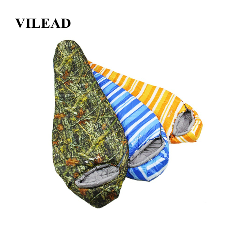 VILEAD 3 Colors Mummy type Ultralight Sleeping Bag Portable Waterproof Hiking Camping Stuff Adult Sleep Bed Quilt Lightweight-in Sleeping Bags from Sports & Entertainment