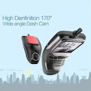 Image 5 - Caméra enregistreur DVR de voiture à petit tableau de bord avec caméra grand Angle Wifi 1080p