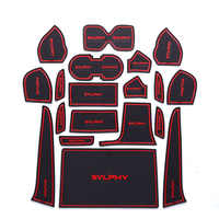 19Pcs Lot Car Interior Upholstery For 16 NISSAN Sylphy Rubber Mat Car Accessories Non-Slip Mat Auto Accessories Interior