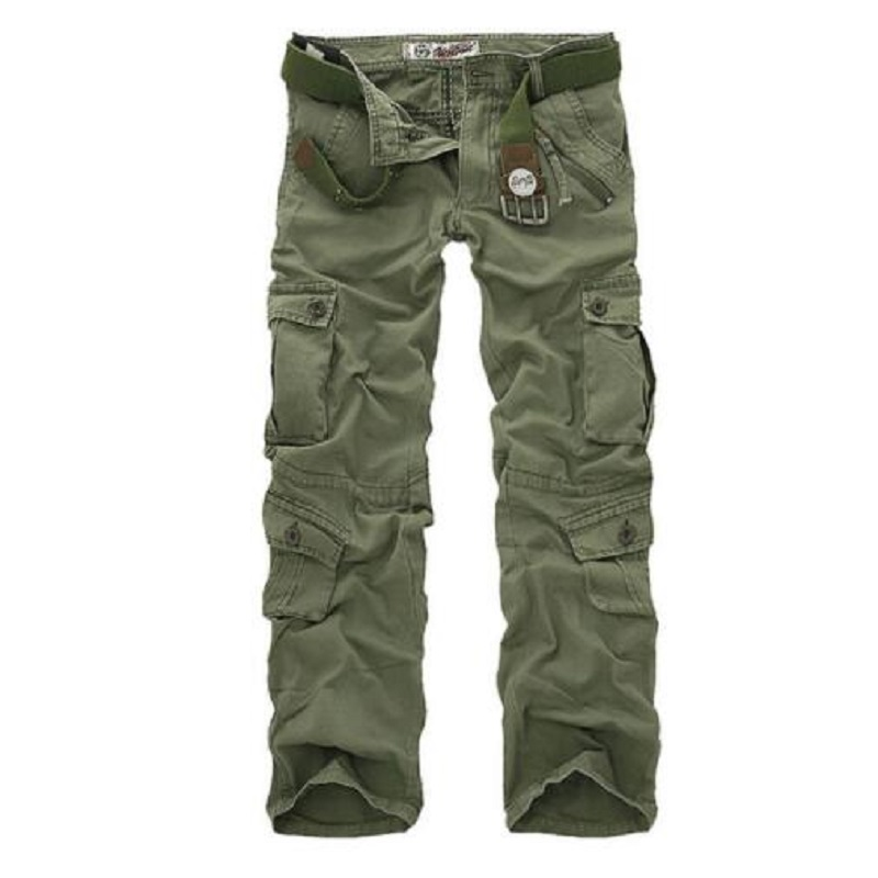 2018 Tactical Cargo Pants Men Camo Jogger Casual Long Trousers Multi-Pockets Military Army Camouflage Male Cargo Pants Clothing