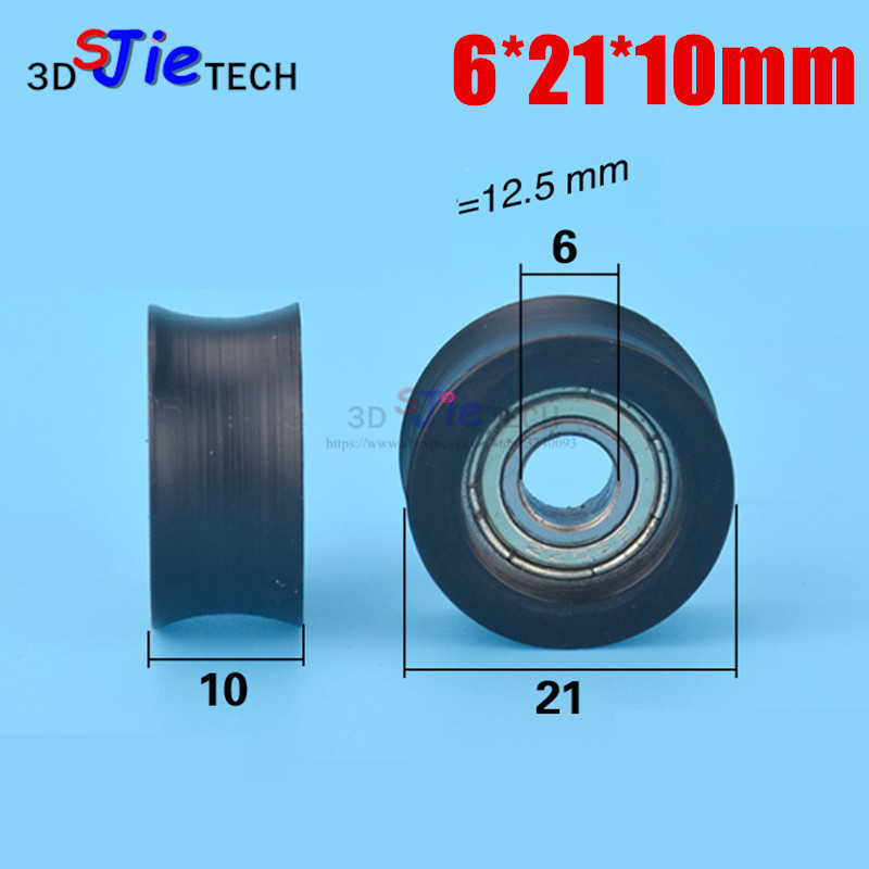 10pcs 6*21*10mm U Wheel Pom Pulley Nylon Injection Plastic Injection Door And Window Bearing Groove Pulley