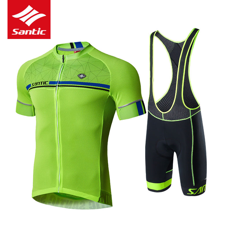 Santic Racing Team Cycling Jersey 2017 Racing Bike Jersey Kit Quick Dry Breathable MTB Bicycle Cycling Sets + 4D Pad Shorts bike team long sleeve breathable outdoor cycling sets 3d gel padded quick dry bicycle apparel clothing cycling jersey sets h021