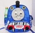 New carton Crianças mochilas Cor Azul Thomas Trem mochila para Crianças Mochilas de Lona com Lona crianças mochila