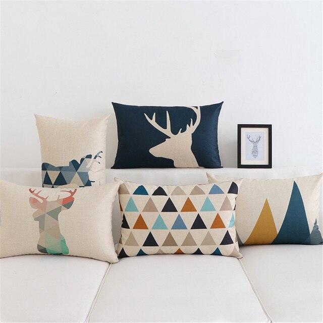 30x50 cm Animale Geometrico Nordic Cuscino Pillow Case Cover Cuscini Decorativi