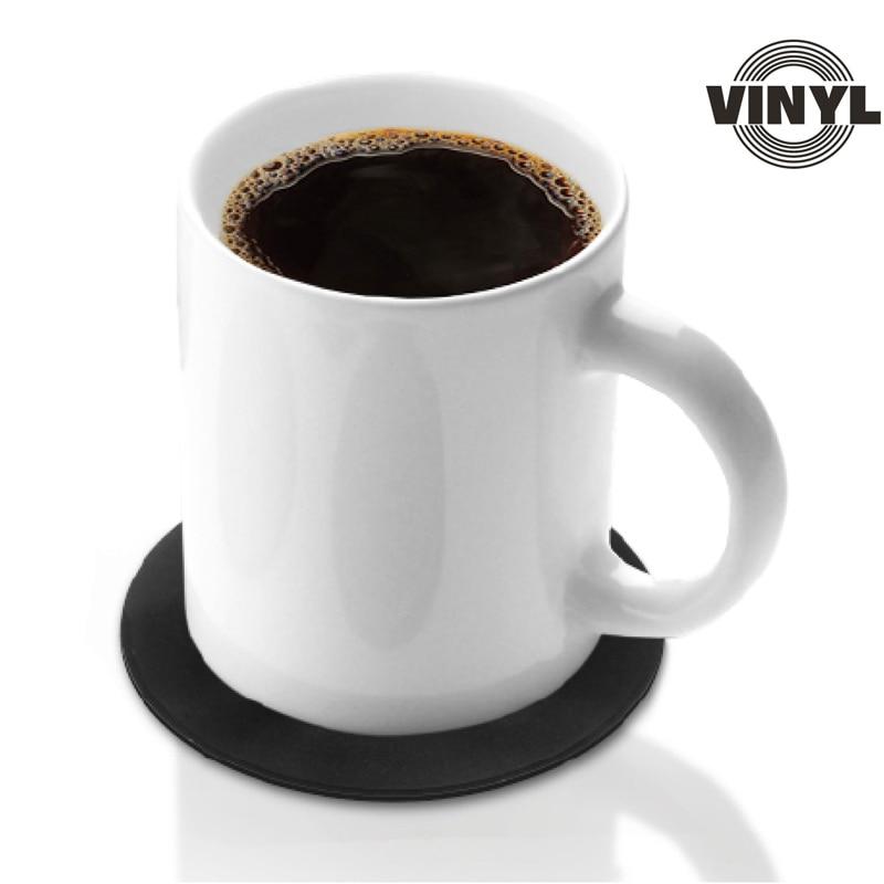 4pcs Set Retro Vinyl Cup Coasters Funk Hero
