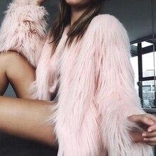 UPPIN шуба куртка женская пушистый мех пальто Для женщин пушистый теплый с длинным рукавом Женский Верхняя одежда Осенне-зимнее пальто куртка волосатые воротника из искусственного меха пальто дубленка шубы пальто