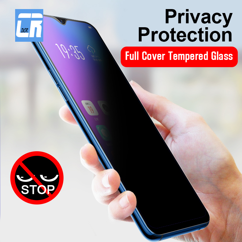 Anti Spy Full Cover Tempered Glass For Samsung Galaxy A50 A30 M20 M10 J4 J6 Plus 2018 Glass S10E Screen Protector Privacy Film