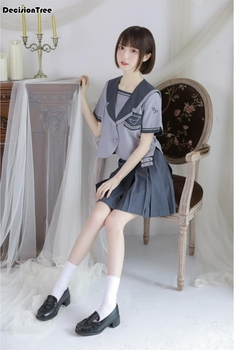 2020 arrival japanese jk sets school uniform girls embroideried high school women novelty sailor suits uniforms