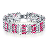 Fashion Super Shine Color Zircon Bracelets Ladies Environmental Protection Copper Bracelet European American High Quality Gifts