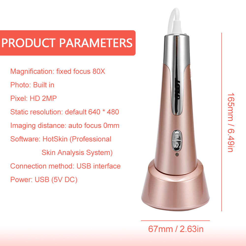 Digital Moisture Monitor Spectrum Automatic Skin Water Oil Content Analyzer Facial Automatic Skin Analying Pen with APP - 2