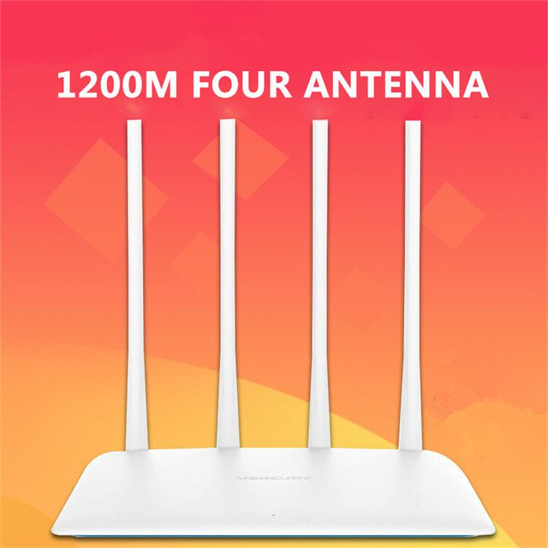 US $27 11 |1200Mbps 5G Wireless Wifi Router Smart Repeater Access Point  Smart APP 4 External Antennas WPS Button IP QoS Speed 2 Fast -in Wireless