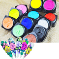 12 Colors/lot Nail Polish UV/LED Glitter Sculpture Carved Glue Nail Gel acrylic Modelling Decoration Nail Art Design