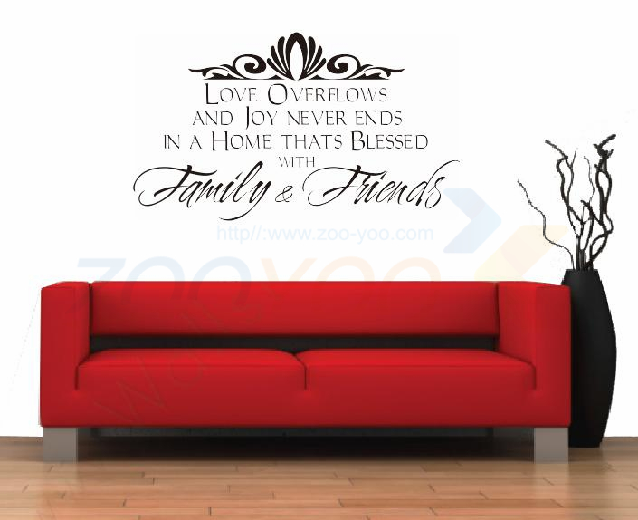 Home Decor Quotes warm home decor english quote removable wall sticker Family Friends Home Decoration Creative Quote Wall Decal Zooyoo8042 Decorative Vinyl Quotes Living Room Decor Wall Sticker In Wall Stickers From Home
