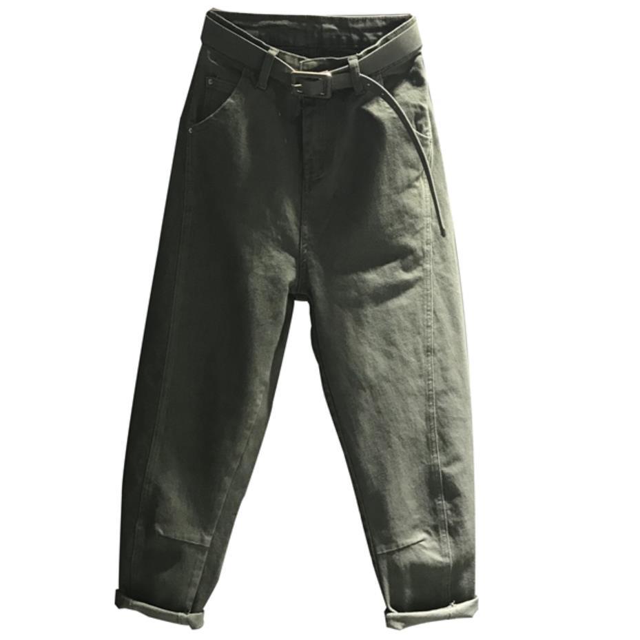 Primavera A 2019 Alta Autunno Più Casual Green 31 Donne White Delle army Il Harem Dei khaki Vita Ravanello Allentato Jeans Formato 26 New apricot qwxTTZIX